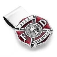 Cufflinks MC3216ER Enamel Firefighter Money Clip