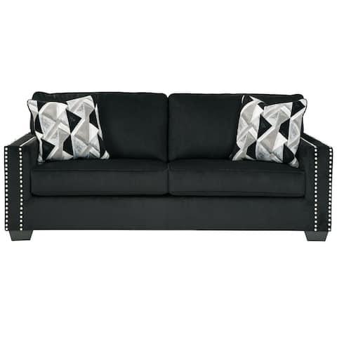 """Gleston Black Sofa - 84""""W x 38""""D x 37""""H"""
