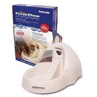 """Petmate Deluxe Fresh Flow Cat Bowl 108oz  Bleached Linen 15.37"""" x 10.18"""" x 7"""""""