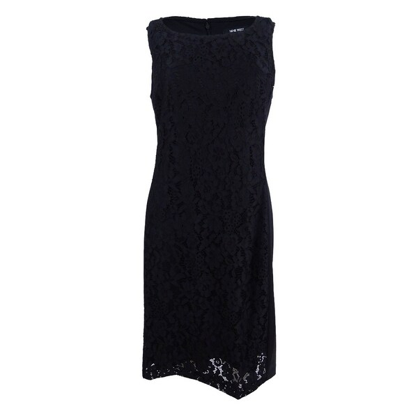 Shop Nine West Women s Lace Sheath Dress - Black - On Sale - Free Shipping  Today - Overstock.com - 23029248 49620cd73