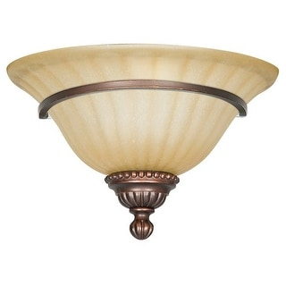 "Sunset Lighting F5280 Graham 1 Light 100 Watt 7"" Height Wall Washer Sconce - Mahogany"