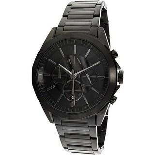 Armani Exchange Men's AX2601 Black Stainless-Steel Quartz Fashion Watch|https://ak1.ostkcdn.com/images/products/is/images/direct/ba89e4fa79ec92b4b6d1e6b60c491e801cd107a8/Armani-Exchange-Men%27s-AX2601-Black-Stainless-Steel-Quartz-Fashion-Watch.jpg?_ostk_perf_=percv&impolicy=medium