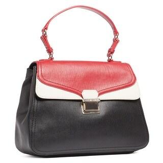 Moschino JC4146 000A Red/Black/Ivory Satchel/Shoulder Bag - 13.5-11-5