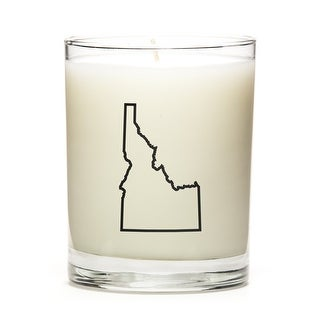 Custom Candles with the Map Outline Idaho, Fresh Linen
