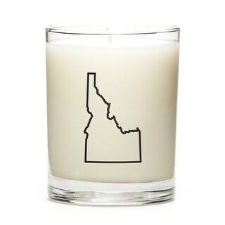 State Outline Candle, Premium Soy Wax, Idaho, Apple Cinnamon