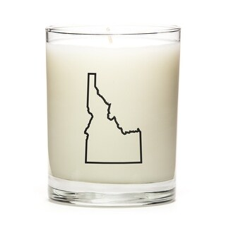 State Outline Candle, Premium Soy Wax, Idaho, Pine Balsam
