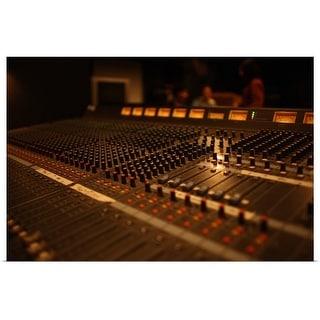 """Recording studio"" Poster Print"