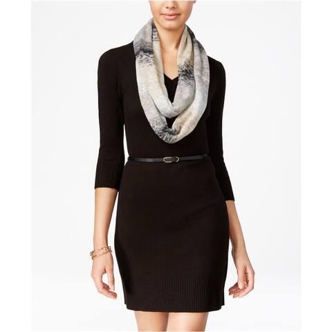 BCX Womens Knit Sweater Dress, black, X-Large