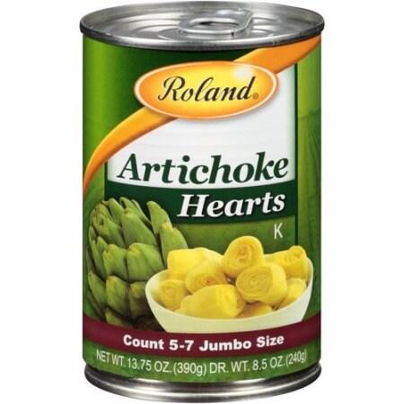 Roland Artichoke Hearts - Case of 12 - 13.75 oz.