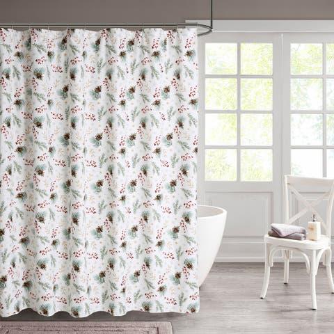 Pinecone Shower 13-piece Shower Curtain Set