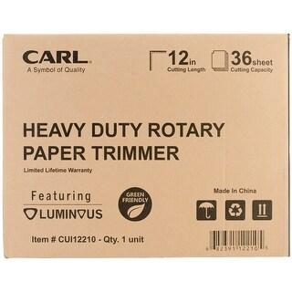 "Carl Heavy-Duty Rotary Trimmer 12"""