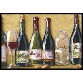 Carolines Treasures TMTR0271JMAT Wine Du Vin by Malenda Trick Indoor or Outdoor Mat 24 x 36