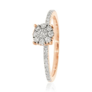 0.38 Ctw Classic Round Briliant Cut Natural Diamond Engagement Ring
