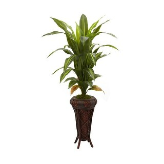 """Nearly Natural 57"""" Dracaena with Stand Silk Plant - Real Touch"""