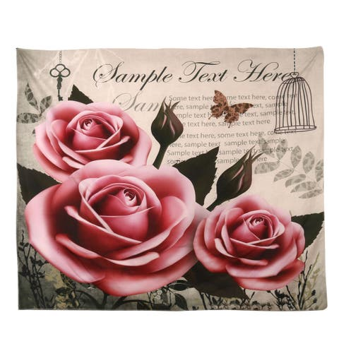 Polyester Flower Pattern Home Picnic Water Resistant Blanket Rug Pad Multicolor