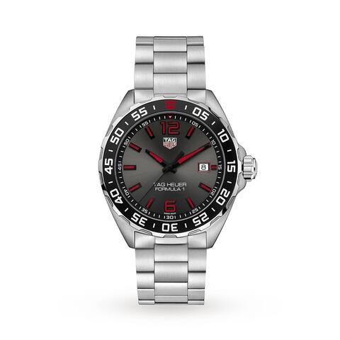 Tag Heuer Men's WAZ1018.BA0842 'Formula 1' Stainless Steel Watch - Grey