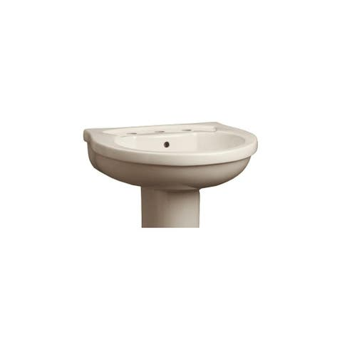 """Mirabelle MIRPR358 22"""" Pedestal Sink Top with 3 Holes Drilled and"""