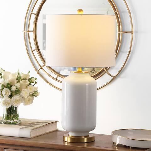 "Safavieh Lighting 26-inch Amaia Glass Table Lamp - 14"" x 14"" x 26"""