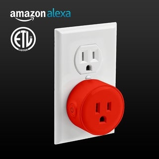 1 PACK LITEdge Smart Plug, Works with Alexa, Wi-Fi Accessible, Single Socket,Red