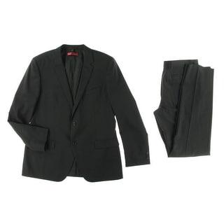 Hugo Hugo Boss Mens Aamon/Hago Wool Notch Collar Two-Button Suit - 40R