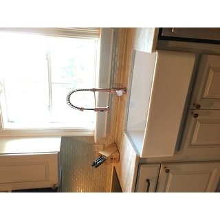 Brienza Antique Copper Residential Spring-coil Kitchen Faucet