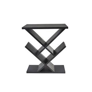 Adesso WK4614-01  Zig-Zag Accent Table - Black