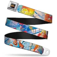 Street Fighter Ii Logo Full Color Black Street Fighter 8 Character Seatbelt Belt