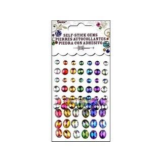 Darice Self Stick Gems Round/Oval Primary