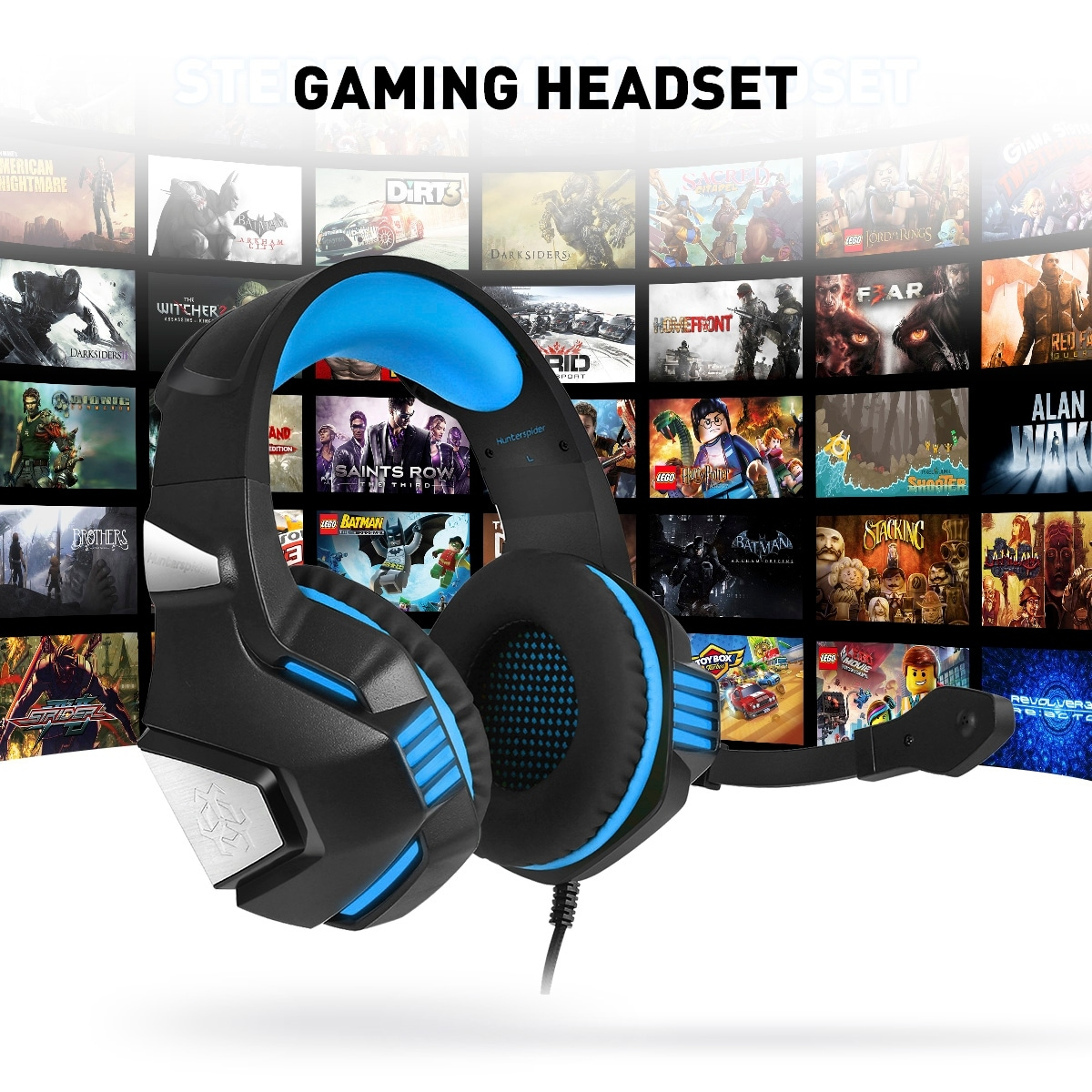 Gaming Headset for PS4 Xbox One, Over Ear Gaming Headphones with Mic
