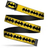 Batman Fcg Black Yellow Black Frame Bat Signal 3 Yellow Black Yellow Web Belt
