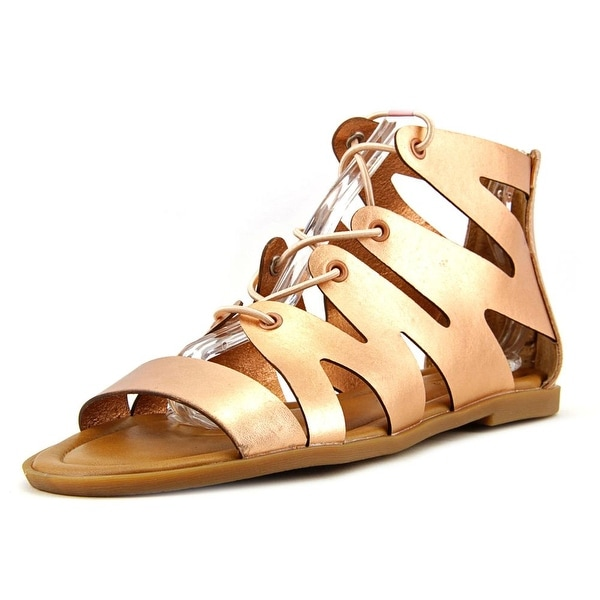 Lucky Brand Centiee Women Open Toe Leather Gladiator Sandal