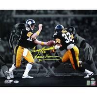 3fe6db671 Terry Bradshaw Franco Harris Signed Pittsburgh Steelers 16x20 Photo Beckett  BAS