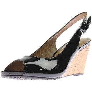 Gerry Weber Womens Adelina 05 Wedge Heels Patent Leather Peep Toe