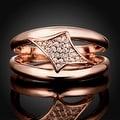 Diamond Rose Gold Shaped Design Ring - Thumbnail 1