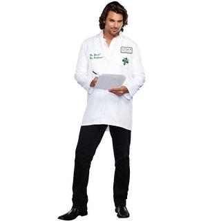 Dreamgirl Dr. Bud Smoker Adult Costume - White