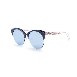 Christian Dior Women's Navy Safilo Diorama Club Metal Sunglass - Blue