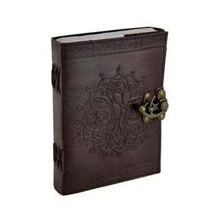 Brown Tree of Life Leather Bound Journal 5x7 in.