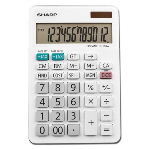 Sharp EL-334WB Professional Desktop Calculator with XL 12-Digit LCD Display