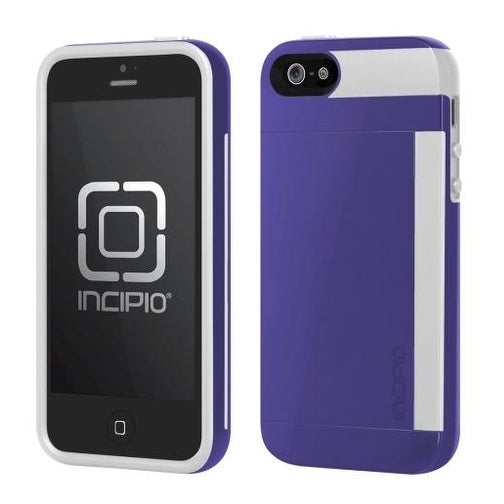 Incipio IPH-852 Stowaway Case for iPhone 5 (Purple/White)