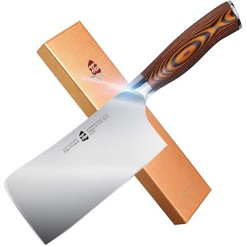 """Tuo Cutlery 6"""" Chopper/MeatVeg Cleaver Knife,HC Steel,Erqonomic Handle"""