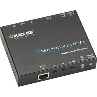 Black Box AVX-VGA-TP-SRX Black Box MediaCento VX Standard Receiver - 1 Output Device - 492.13 ft Range - 1 x Network (RJ-45) - 1