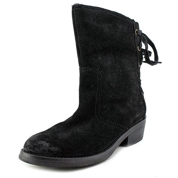 Nine West Krasher Women Round Toe Suede Black Boot
