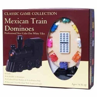 Mexican Train Dominoes With Train Markers And Hub