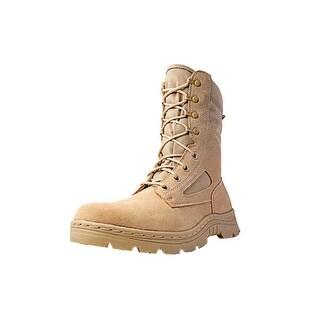 """Ridge Tactical Boots Men Dura-Max Desert Zipper 8"""" Shaft Sand"""