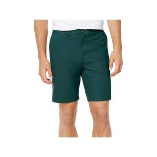 Tommy Hilfiger Mens Khaki, Chino Shorts Classic Fit Flat Front