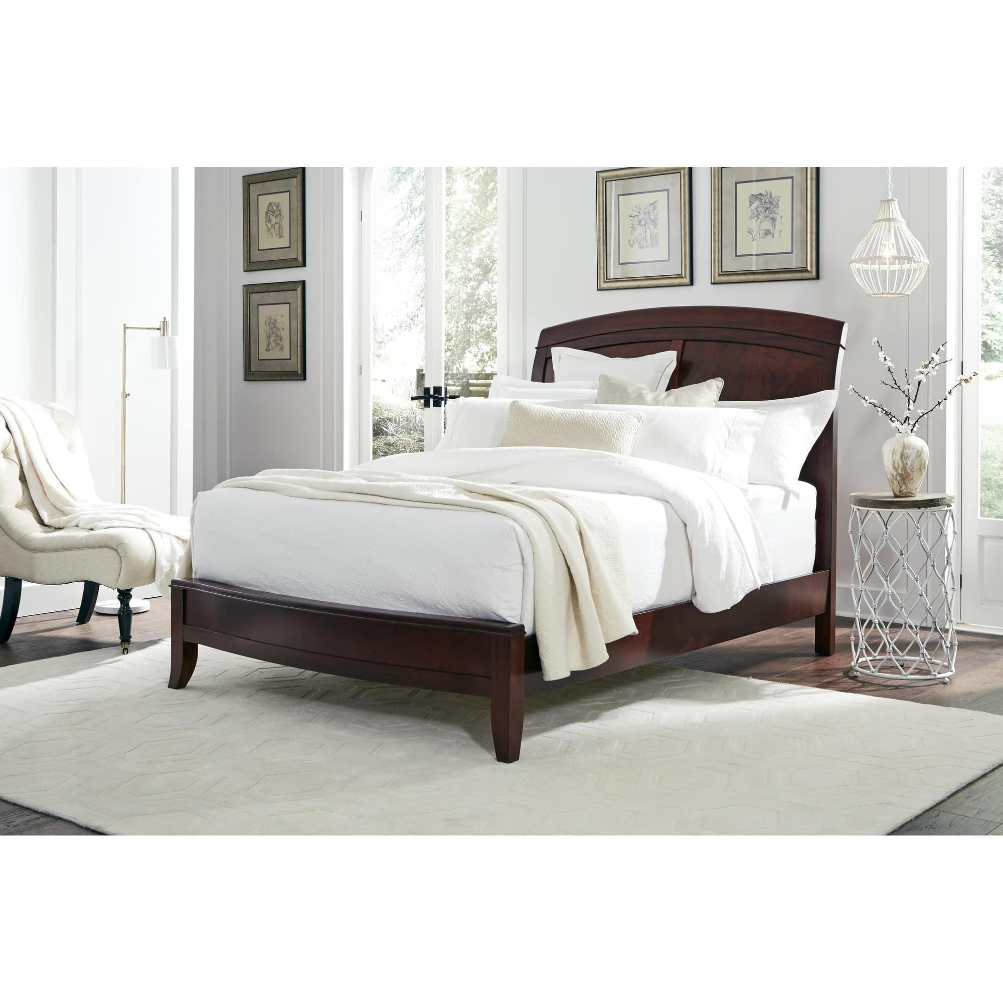 Shop Black Friday Deals On Brighton King Size Low Profile Sleigh Bed In Cinnamon Overstock 3140686