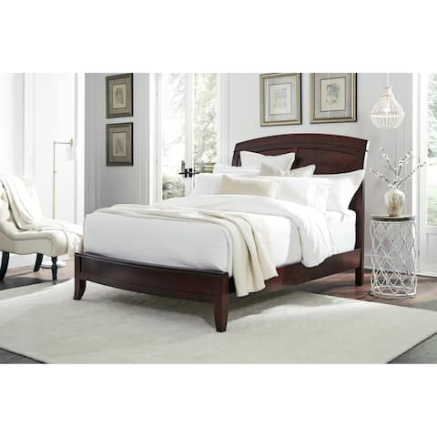 Brighton King Size Low Profile Sleigh Bed in Cinnamon