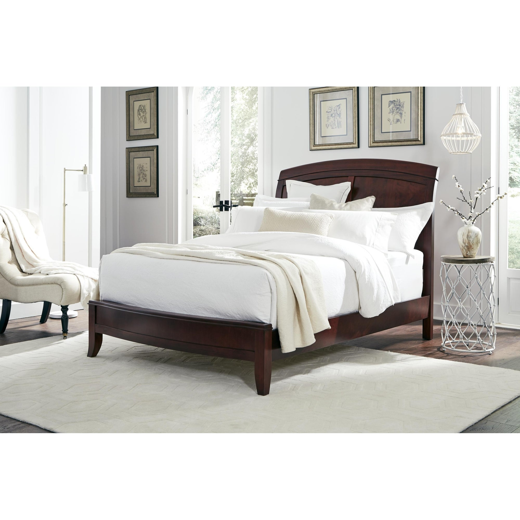 Picture of: Brighton King Size Low Profile Sleigh Bed In Cinnamon Overstock 3140686