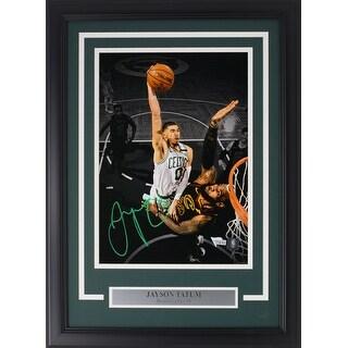 Jayson Tatum Signed Framed Celtics 11x14 Dunk On Lebron James Photo Fanatics