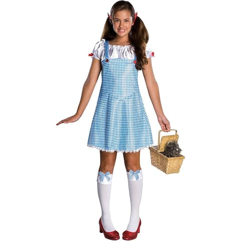 Wizard Of Oz Dorothy Costume Tween - Blue